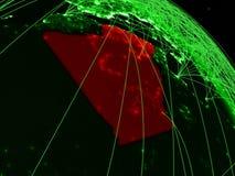 Αλγερία στην πράσινη σφαίρα απεικόνιση αποθεμάτων
