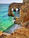 Αλγκάρβε Πορτογαλία, παραλία ακτών Στοκ φωτογραφία με δικαίωμα ελεύθερης χρήσης