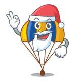 Αλεξίπτωτο Santa στη μορφή του acartoon fuuny ελεύθερη απεικόνιση δικαιώματος
