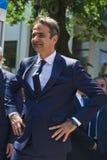 ΑΛΕΞΑΝΔΡΟΎΠΟΛΗ, ΕΛΛΑΔΑ 14 ΜΑΐΟΥ 2018: Ελληνικός ηγέτης νέου Democra Στοκ Φωτογραφία