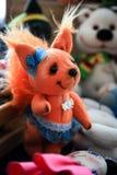 Αλεπού δεράτων - χειροποίητο παιχνίδι παιδιών ` s Στοκ Εικόνες