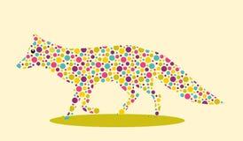 Αλεπού που επισημαίνεται Στοκ Εικόνα