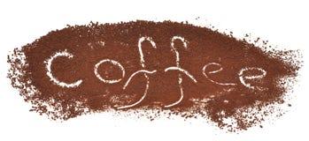 αλεσμένο καφές σημάδι Στοκ εικόνες με δικαίωμα ελεύθερης χρήσης