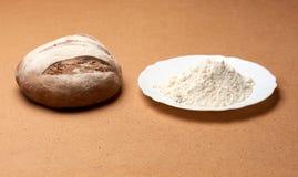 Αλεύρι και ψωμί Στοκ Εικόνες