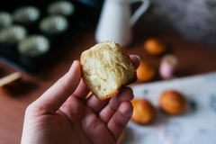 Αληθινό γαλλικό brioche πλούσιο βούτυρο ψωμιού Στοκ Φωτογραφίες