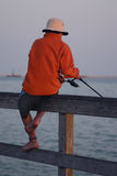 αλιεία αγοριών Στοκ εικόνες με δικαίωμα ελεύθερης χρήσης