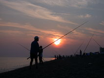 αλιεία ακτών Στοκ φωτογραφίες με δικαίωμα ελεύθερης χρήσης