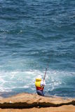 αλιεία ακτών Στοκ φωτογραφία με δικαίωμα ελεύθερης χρήσης