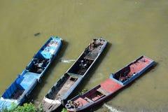 αλιεία βαρκών παραδοσια& irrawaddy ποταμός Mandalay Myanmar Στοκ φωτογραφία με δικαίωμα ελεύθερης χρήσης