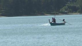 αλιεία βαρκών παραλιών απόθεμα βίντεο