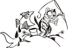 αλιεία γατών απεικόνιση αποθεμάτων