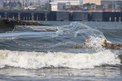 Αλιεία διχτυού απορριμμάτων στοκ φωτογραφία