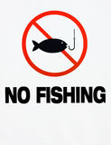 αλιεία κανενός σημαδιού Στοκ εικόνα με δικαίωμα ελεύθερης χρήσης