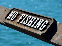 αλιεία κανενός σημαδιού Στοκ Φωτογραφίες