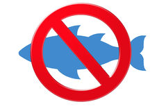 αλιεία κανενός σημαδιού Στοκ εικόνες με δικαίωμα ελεύθερης χρήσης