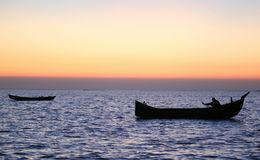 Αλιεία με τη βάρκα στοκ εικόνες