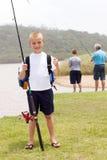 Αλιεία μικρών παιδιών στοκ φωτογραφία με δικαίωμα ελεύθερης χρήσης