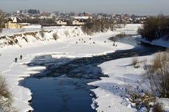 Αλιεία πάγου Στοκ εικόνες με δικαίωμα ελεύθερης χρήσης