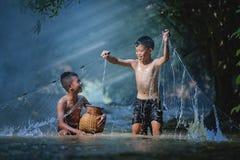 Αλιεία παιδιών Στοκ Φωτογραφία