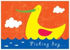 αλιεία πουλιών Στοκ εικόνες με δικαίωμα ελεύθερης χρήσης