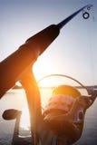 Αλιεία σε μια λίμνη Στοκ φωτογραφίες με δικαίωμα ελεύθερης χρήσης