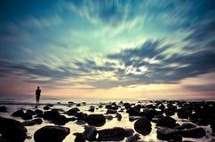 Αλιεία στην παραλία Στοκ Φωτογραφία