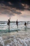 Αλιεία στη Σρι Λάνκα Στοκ Φωτογραφία