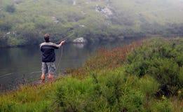αλιεία της μύγας Στοκ Εικόνες
