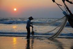 Αλιεία το πρωί στοκ φωτογραφία