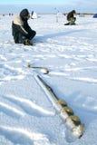 αλιεία τρυπανιών Στοκ εικόνα με δικαίωμα ελεύθερης χρήσης