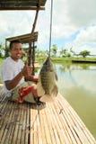 αλιεία fishpond Στοκ Φωτογραφίες