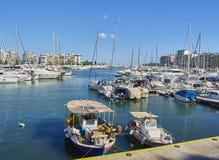 Αλιευτικά σκάφη που δένονται στο λιμάνι Mikrolimano του Πειραιά Αττική, στοκ φωτογραφία με δικαίωμα ελεύθερης χρήσης
