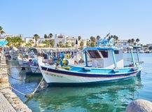 Αλιευτικά σκάφη που δένονται στο λιμένα αλιείας Kos Νότια αιγαία περιοχή, Γ στοκ φωτογραφίες με δικαίωμα ελεύθερης χρήσης