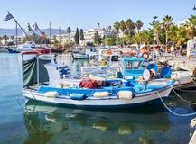 Αλιευτικά σκάφη που δένονται στο λιμένα αλιείας Kos Νότια αιγαία περιοχή, Γ στοκ φωτογραφία