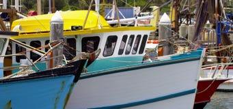 Αλιευτικά σκάφη στην πρόσδεση απόθεμα βίντεο
