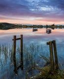 Αλιευτικά σκάφη στη λίμνη Rusky Στοκ Φωτογραφία