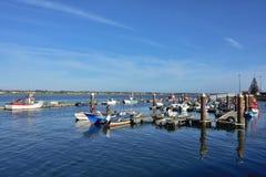 Αλιευτικά σκάφη στη Nova πλευρών, Πορτογαλία Στοκ φωτογραφία με δικαίωμα ελεύθερης χρήσης