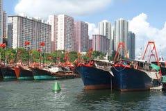 Αλιευτικά σκάφη στο Αμπερντήν στοκ εικόνες