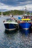 Αλιευτικά σκάφη στο λιμάνι Argyll και Bute Σκωτία UK Tarbert Στοκ Εικόνες