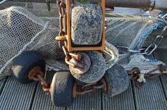 Αλιευτικό εργαλείο μιας βάρκας γαρίδων Στοκ φωτογραφία με δικαίωμα ελεύθερης χρήσης