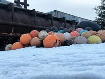 Αλιευτικό εργαλείο της Αλάσκας στοκ εικόνες