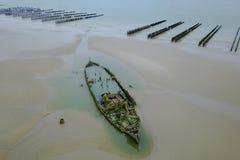 Αλιευτικό πλοιάριο ατμού, που ανατίθεται από το βρετανικό στρατό για να χρησιμεύσει το 1915 ως ένα σκάφος deminer στοκ εικόνα