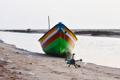 Αλιευτικό σκάφος στη θάλασσα όπου αλιεύοντας το τέλμα Στοκ φωτογραφία με δικαίωμα ελεύθερης χρήσης