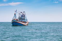 Αλιευτικό σκάφος στον κόλπο της Ταϊλάνδης Στοκ εικόνες με δικαίωμα ελεύθερης χρήσης
