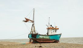 Αλιευτικό σκάφος Aldeburgh Σάφολκ στοκ εικόνες