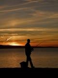αλιεύοντας άτομο Στοκ φωτογραφία με δικαίωμα ελεύθερης χρήσης