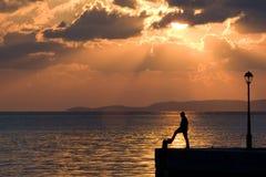 αλιεύοντας άτομο Στοκ Φωτογραφίες