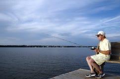 αλιεύοντας άτομο Στοκ Εικόνες