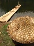 αλιεύοντας άχυρο καπέλω& Στοκ Εικόνες