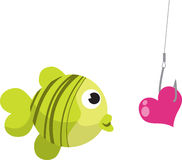 αλιεύοντας αγκίστρι Στοκ Εικόνες
